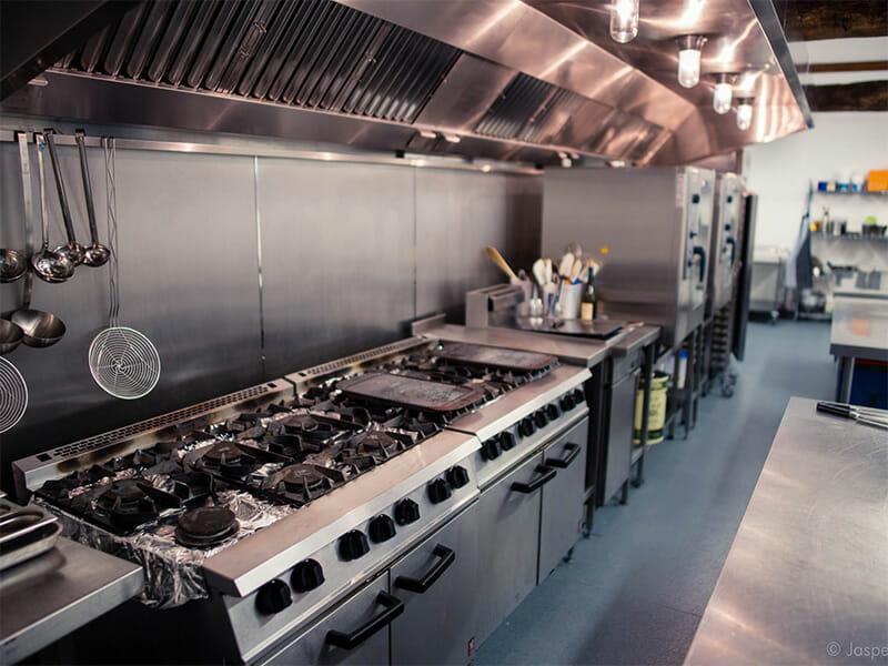 Commercial kitchen installation